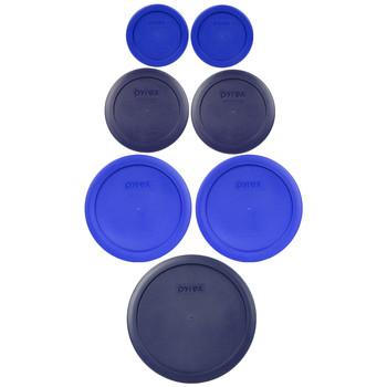 Pyrex 7202-PC, 7200-PC, 7201-PC, 7402-PC Feeling Blue 7pc Storage Lid Bundle