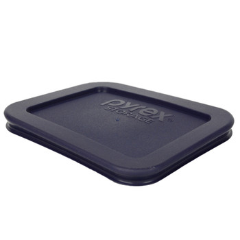 Pyrex 7213-PC and 7214-PC Dark Blue 1.9 Cup and 4.8 Cup Rectangle Plastic Replacement Lids
