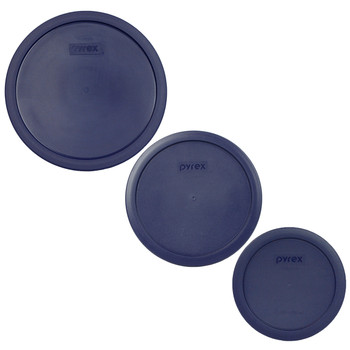 Pyrex 7403-PC, 7402-PC, and 7201-PC Dark Blue Replacement Lids