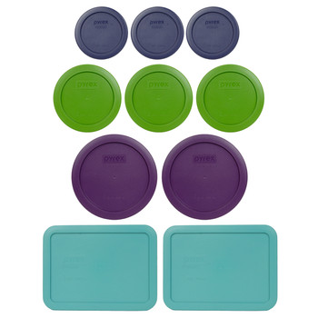 Pyrex Simply Store 7202-PC, 7200-PC, 7201-PC, and 7210-PC 10pc Plastic Lid Set