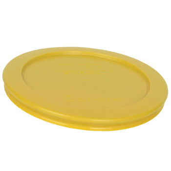 Pyrex 7200-PC Butter Yellow 2 Cup, 470mL Round Plastic Replacement Lid