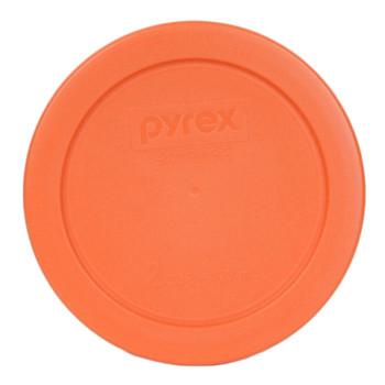 Pyrex (3) 7200-PC Orange, (3) 7201-PC Butter Yellow & (3) 7402-PC Blue Round Plastic Storage Lids
