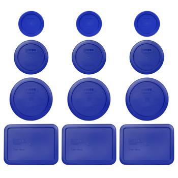 Pyrex (3) 7202-PC (3) 7200-PC, (3) 7201-PC & (3) 7210-PC Cadet Blue Replacement Lids