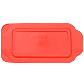 Pyrex 213-PC 1.5qt Red Rectangle Plastic Replacement Loaf Pan Lid