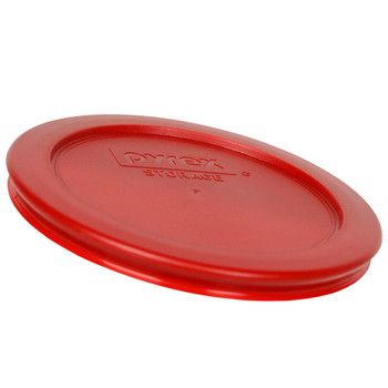 Pyrex 7200-PC Poppy Red 2 Cup, 470 mL Round Plastic Replacement Lid