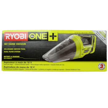 Ryobi P7131 ONE+ 18V Lithium-Ion Cordless Hand Vacuum, Tool Only