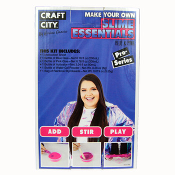 Craft City CC01400.09 Make Your Own Slime Essentials Blue & Pink Pro Series Kit