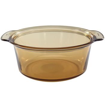 Visions 1055278 V5 5qt Amber Glass Stockpot with Visions 1122302 V-35-C 5qt Glass Lid
