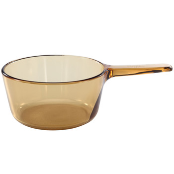 Visions 1055325 V1.5 1.5qt Amber Glass Saucepan