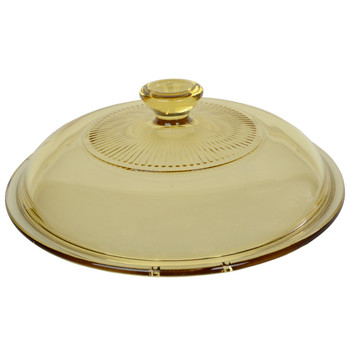 Visions 1122298 V-1.5-C 1.5qt Amber Glass Replacement Lid Cover