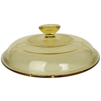 Visions 1122299 V-2.5-C 2.5qt/2.35L Amber Glass Lid Cover