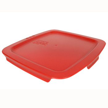 Pyrex C-222-PC 2qt Poppy Red Easy Grab Square Plastic Replacement Lid
