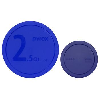 Pyrex 325-PC 2.5qt Blue and 322-PC 1qt Blue Replacement Lid Covers
