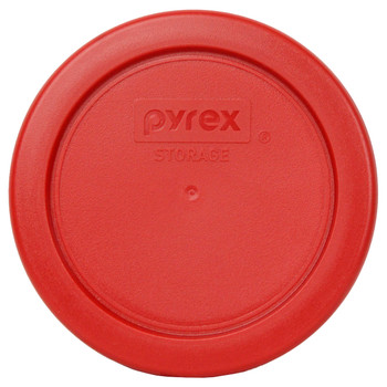 Pyrex 7202-PC Poppy Red Round Plastic Replacement Lid Cover