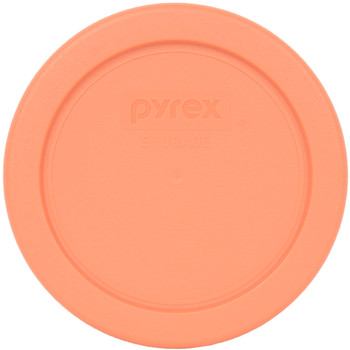 Pyrex 7202-PC Bahama Sunset Orange Round Plastic Replacement Lid Cover