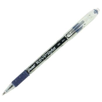 Pentel BK91L-C R.S.V.P. 1.0mm Blue Medium Line Comfort Grip Ballpoint Pen