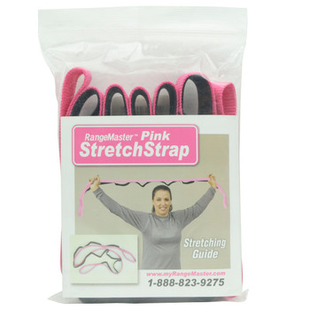 RangeMaster StretchStrap RM-SS Pink Stretching Aid and Patient Guide