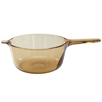Visions 1055325 V2.5 2.5qt Amber Glass Saucepan