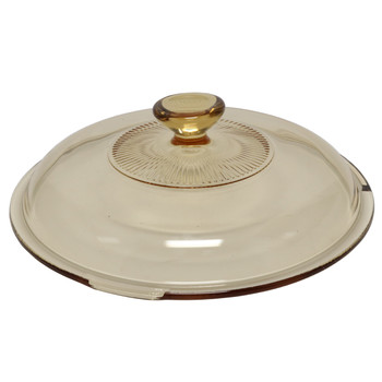 Visions V-33-C 3.5 qt Amber Glass Casserole Replacement Lid Cover