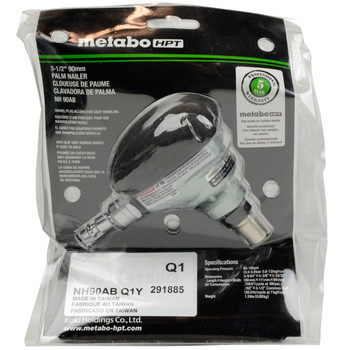 Metabo HPT/Hitachi NH90AB Mini Impact Palm Nailer with 360 Degree Swivel Fitting, Open Box, Tool Only