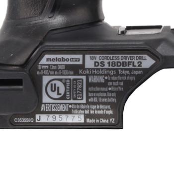 Metabo HPT/Hitachi DS18DBFL2 18V Brushless Drill Driver - Bare Tool