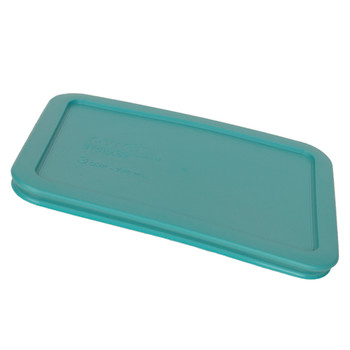 Pyrex 7210-PC 3 Cup White, 7210-PC Turquoise, and 7210-PC Surf Blue Plastic Food Storage Replacement Lids