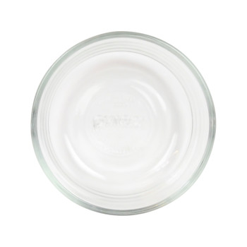 Pyrex (3) 7202 1 Cup Glass Dish & (3) 7202-PC 1 Cup Blue and (3) 7202-PC Red Replacement Lid Covers