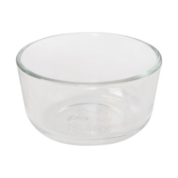 Pyrex 7202 1-Cup Glass Food Storage Bowls w/ 7202-PC 1-Cup Green Plastic Lid Covers