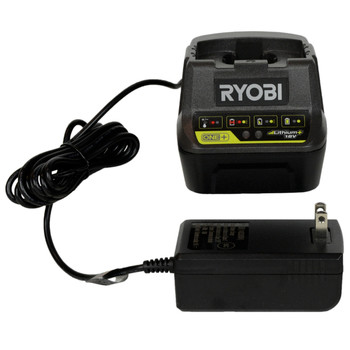 Ryobi P118B 18V Battery Charger with Ryobi P189 18V 1.5 Ah Battery Pack