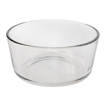 Pyrex 7201 4-Cup Round Glass Food Storage Bowl w/ 7201-PC 4-Cup Blue Spruce Lid Cover