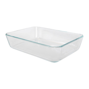 Pyrex 7210 3-Cup Rectangle Glass Food Storage Dish w/ 7210-PC 3-Cup Cadet Blue Lid Cover