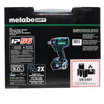 """Metabo HPT WR18DBDL2M 18V Lithium-Ion Brushless 1/2"""" Impact Wrench Kit"""