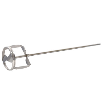 """Jiffy Mixer CO. HS-2 1/4"""" Shaft 1-2 Gallon Stainless Steel Mixer Blade"""