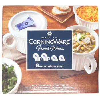 Corningware 1044081 8 Piece Meal Mug and Casserole Food Storage Set