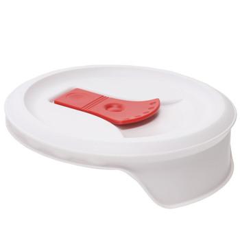 Corningware FM-22 20oz Round Soup Mug Pop-Ins Vented Lid with Tomato Red Tab