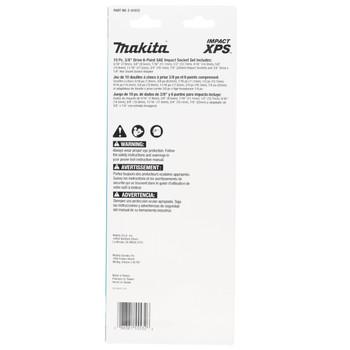 "Makita E-01672 10 pc 3/8"" Drive SAE XPS Impact Socket Set with Standard Socket Adapter"