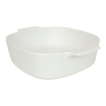 Corningware A-2-B-JW Just White Pyroceram Small Dish & A-3-B-JW Just White Pyroceram Stove Top Big Dish & (2) A-2-PC White Plastic Lids