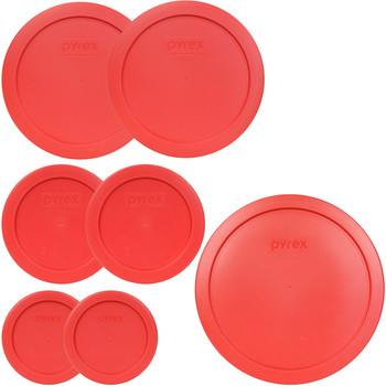 Pyrex 7202-PC, 7200-PC, 7201-PC, 7402-PC Red Food Storage Replacement  Lids