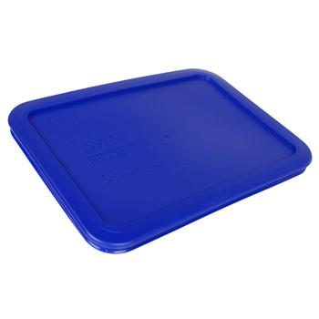 Pyrex 7210-PC 3 Cup Cadet Blue Rectangle Plastic Storage Lid (3-Pack)