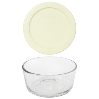 Pyrex Simply Store 7200 2-Cup Glass Storage Bowl and 7200-PC 2-Cup Sour Cream Lid Cover