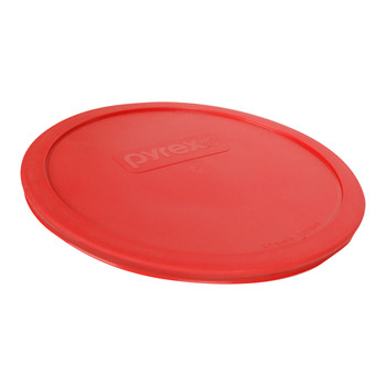 Pyrex 325-PC Red 2.5qt, 2.4L Plastic Round Replacement Lid (4-Pack)