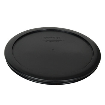 Pyrex (3) 7200-PC, (3) 7201-PC, & (3) 7402-PC Black Food Storage Replacement Lids