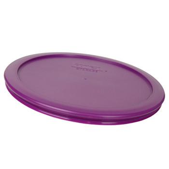 Pyrex (3) 7200-PC, (3) 7201-PC, & (3) 7402-PC Thistle Purple Food Storage Replacement Lids
