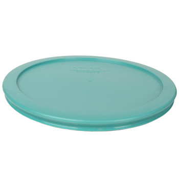 Pyrex (3) 7200-PC, (2) 7201-PC, & (2) 7402-PC Turquoise Food Storage Replacement Lids