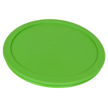 Pyrex (3) 7200-PC, (2) 7201-PC, & (2) 7402-PC Lawn Green Food Storage Replacement Lids