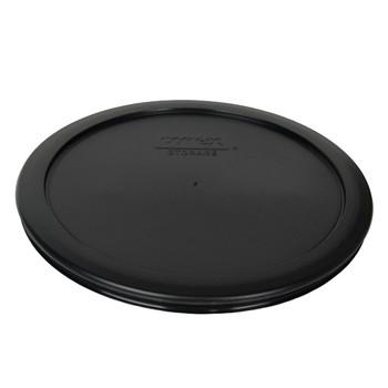 Pyrex (3) 7200-PC, (2) 7201-PC, & (2) 7402-PC Black Food Storage Replacement Lids