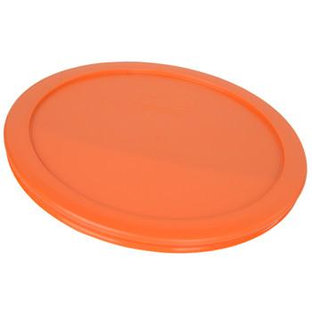 Pyrex (3) 7200-PC, (2) 7201-PC, & (2) 7402-PC Orange Food Storage Replacement Lids