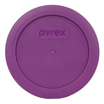 Pyrex (4) 7200 2 Cup Glass Bowls & (4) 7200-PC Thistle Purple Lids