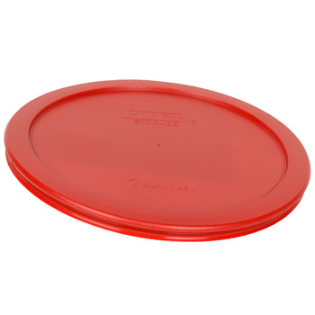 Pyrex (1) 7202-PC, (2) 7200-PC, (2) 7201-PC, (2) 7210-PC, (1) 7211-PC, & (1) 7402-PC Poppy Red Food Storage Replacement Lids