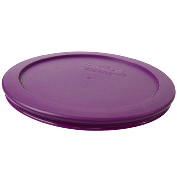 Pyrex (2) 7200-PC Blue Spruce, (1) 7201-PC Thistle Purple, (2) 7210-PC Turquoise, & (1) 7402-PC Poppy Red Food Storage Replacement Lids